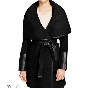 Via spiga wool wrap coat
